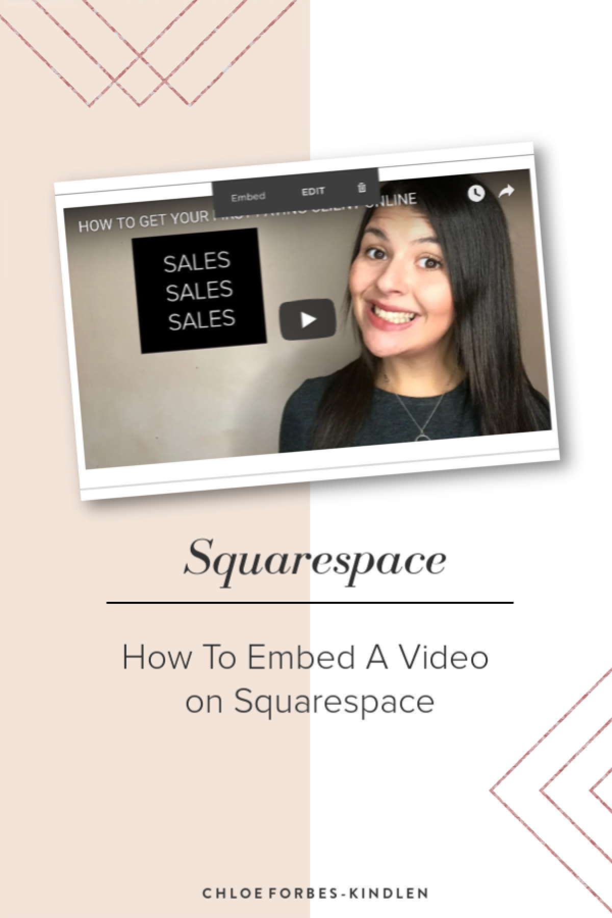 How To Embed A Video on Squarespace | Chloeforbesk com