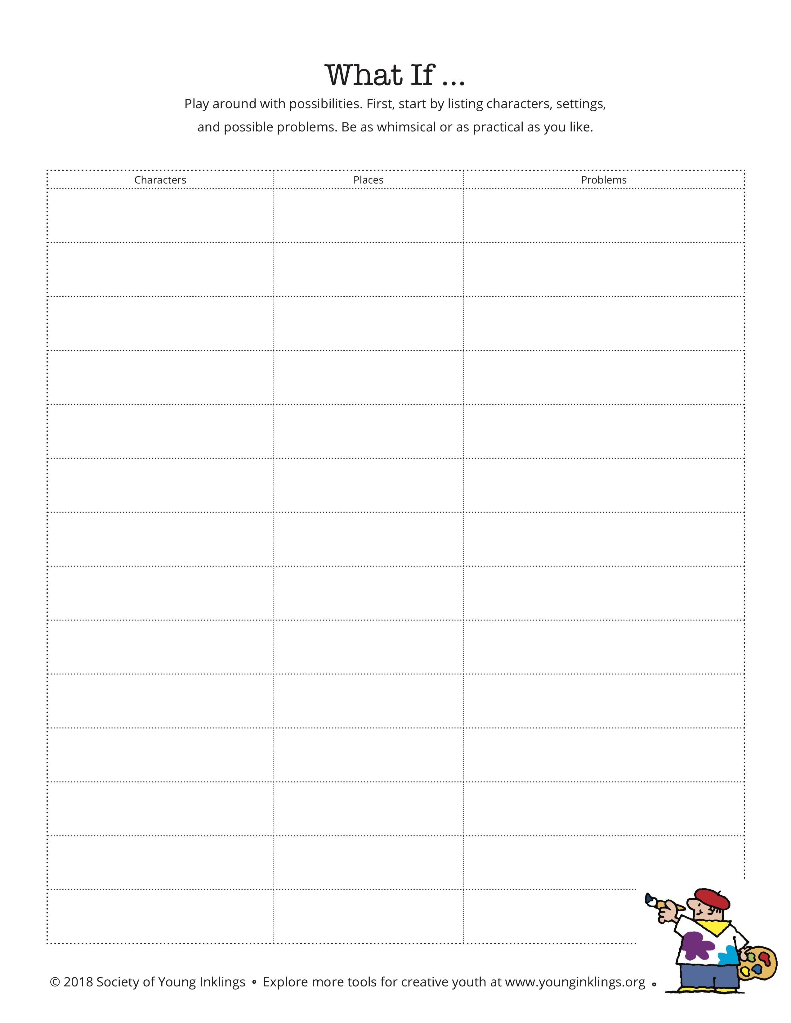 Using What If As A Drafting And Revising Tool Writing Worksheets Mini Lessons Worksheets [ 3300 x 2550 Pixel ]