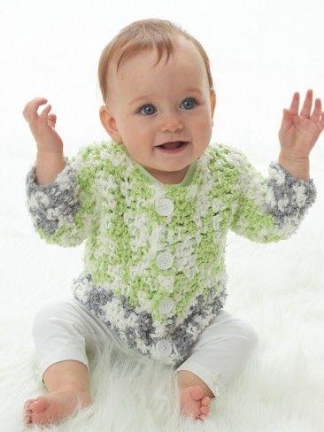 Yarnspirations.com - Bernat Lovie This Much Jacket - Patterns ...