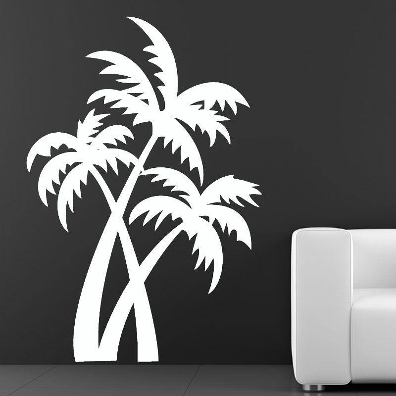 Diy paint a palm tree silhouette mural google search schablonen pinterest schablone - Diy pflanzenwand ...