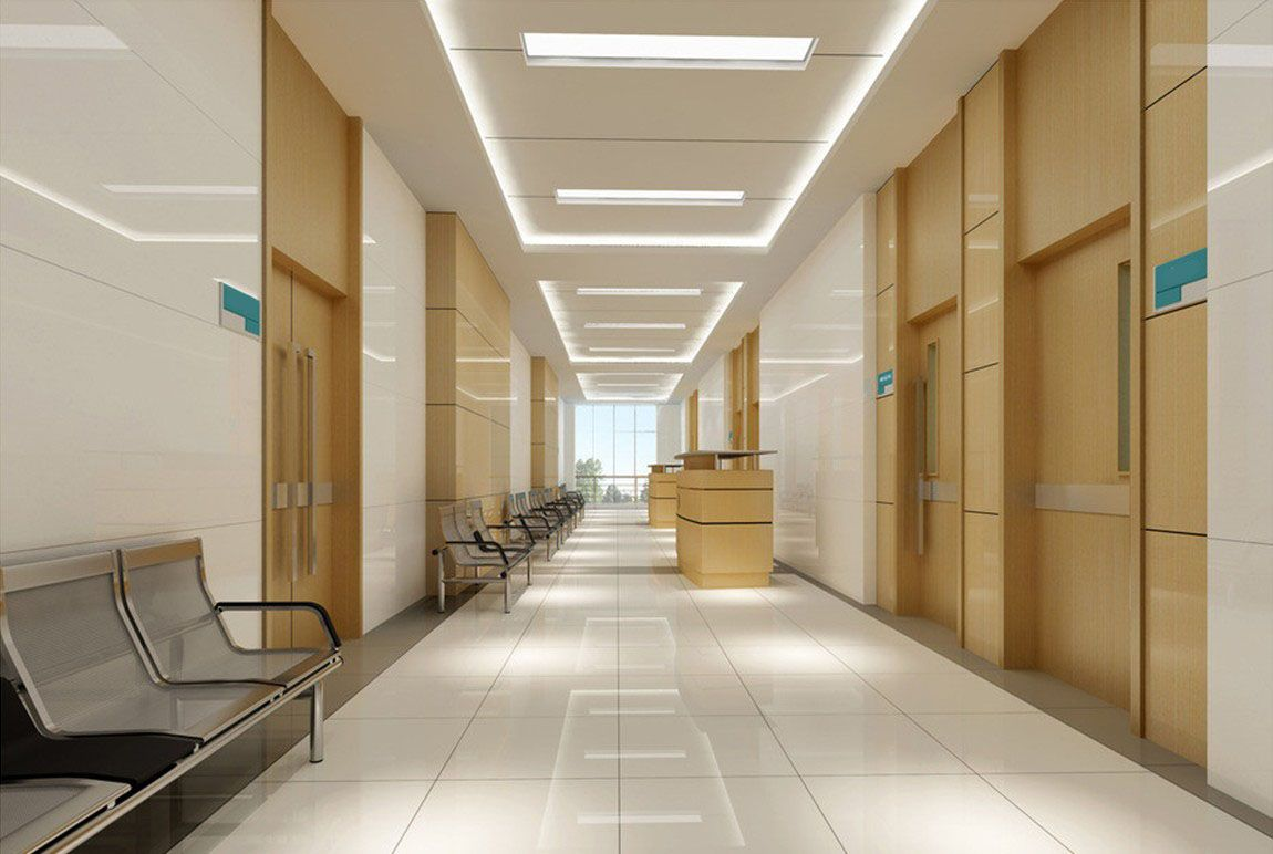 Interior design hospitals corridor hospitals pinterest for Interior design lighting uk