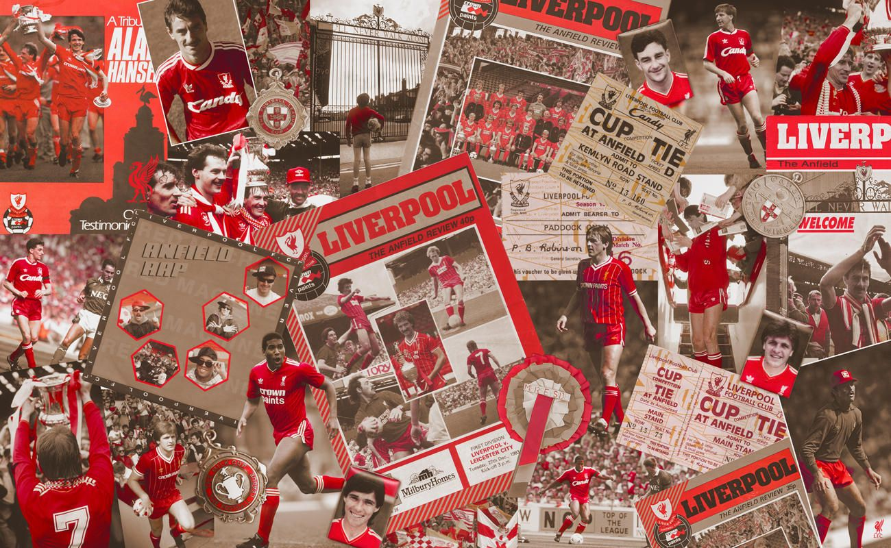 Liverpool FC   Sports Walls   80s montage. Liverpool FC   Sports Walls   80s montage   mr D s man cave