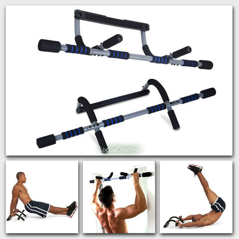 Pull Up Bar Doorway Door Mount Workout Exercise Home Gym Chin Push Up  Portable #PureFitness