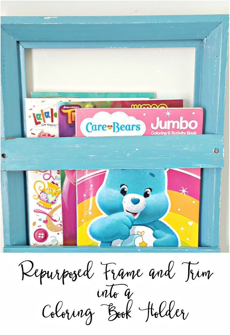 How To Make A Coloring Book Holder Using A Frame Diy Coloring Books Book Holders Diy Book