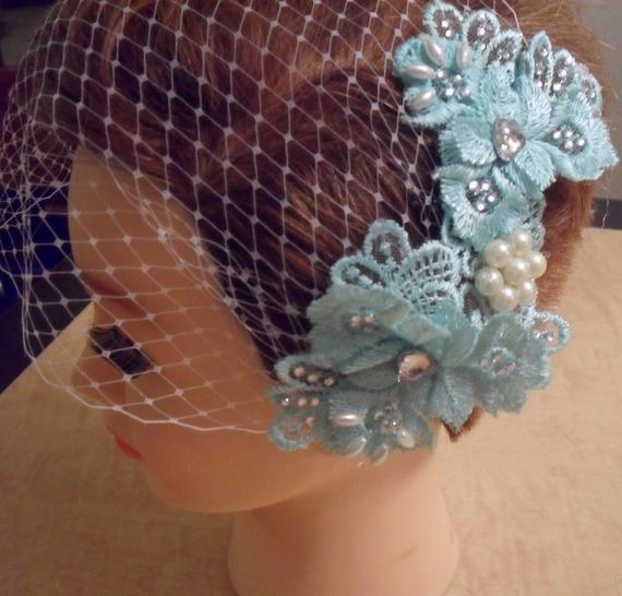 Wedding fascinator,Prom haircomb,Bridal hairpiece, Pink,Green & Black bridal hair accessory, vintage inspired,Rhinestone pearl embellishment