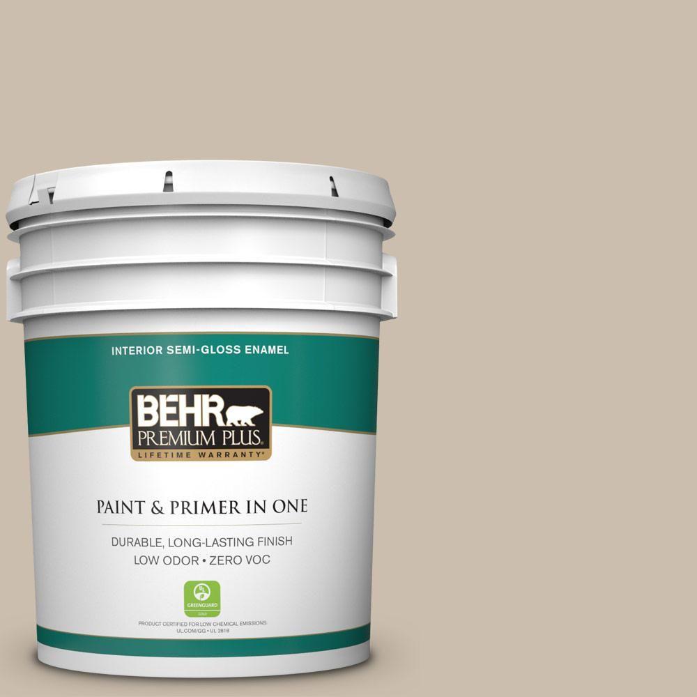 BEHR Premium Plus Home Decorators Collection 5-gal. #hdc-AC-10 Bungalow Beige Zero VOC Semi-Gloss Enamel Interior Paint