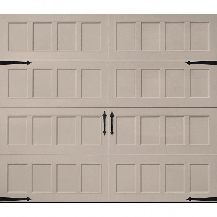 Pella Carriage House 108 In X 84 In Insulated Sandtone Single Garage Door Lowes Com In 2020 Garage Door Design Garage Doors Single Garage Door