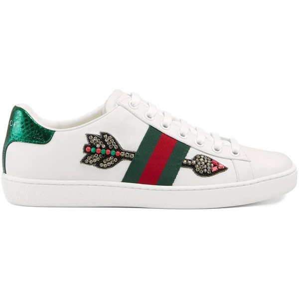 1b2098e81027 Gucci Ace Embroidered Low-Top Sneaker ( 695) ❤ liked on Polyvore ...