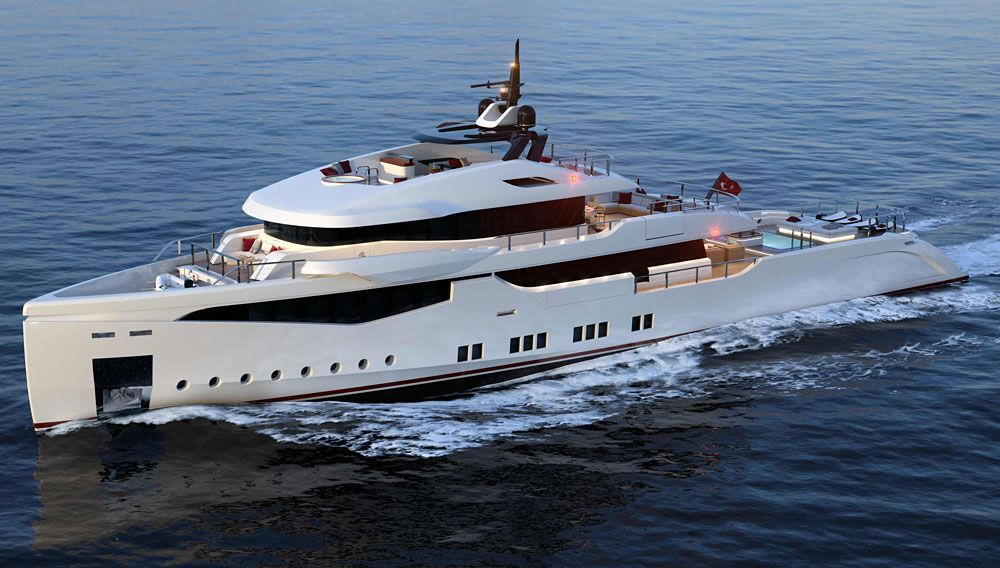 What a stunning new Yacht from RMK Marine and the acclaimed Italian design firm Hot Labs Yacht & Design   #yachts