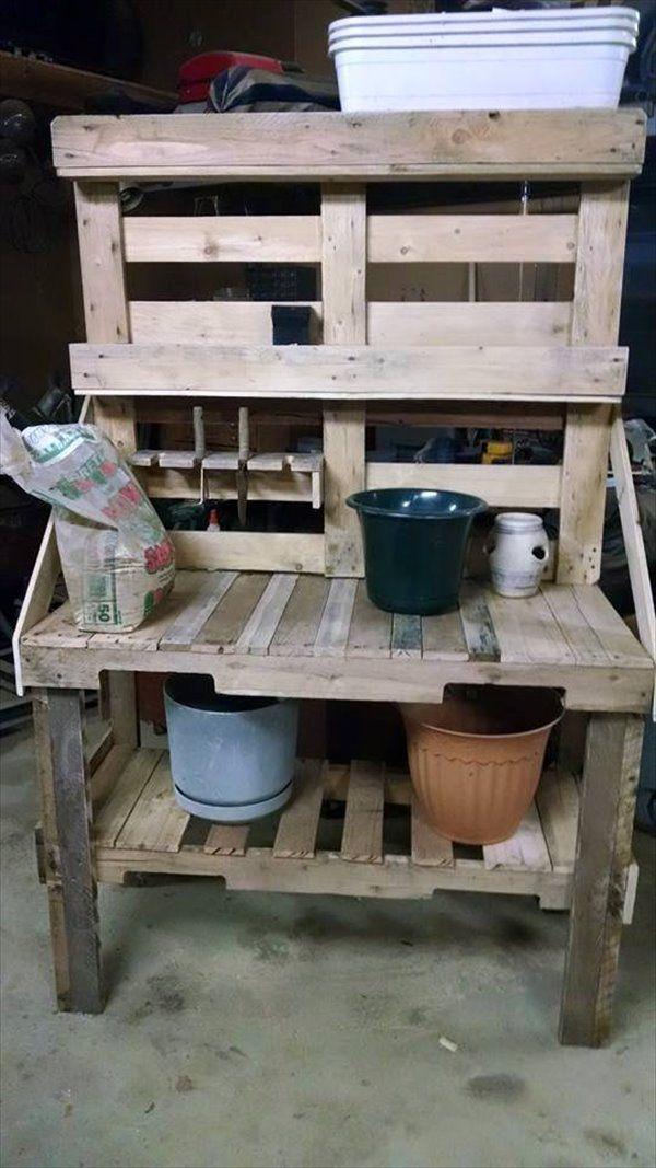 Pallet Potting Bench Pallet Furniture Pinterest Pallet potting