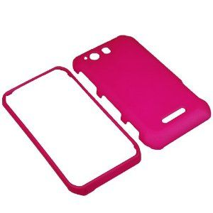 $3.31 BW Hard Shield Shell Cover Snap On Case for Sprint Motorola Photon Q XT897 -Magenta Pink