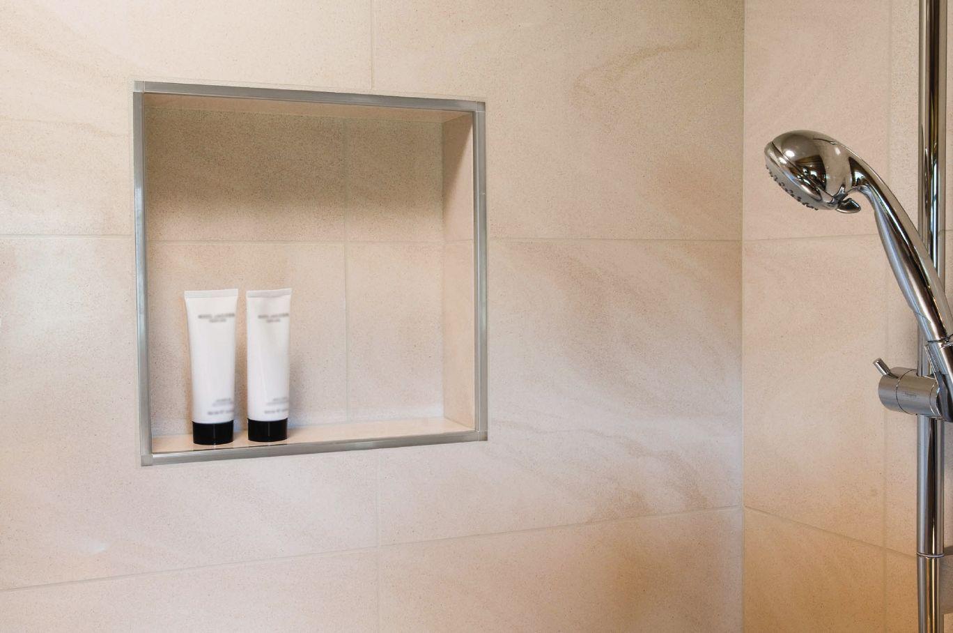 Schluter Rondec Shower Niche Shower Installation Shower Inserts