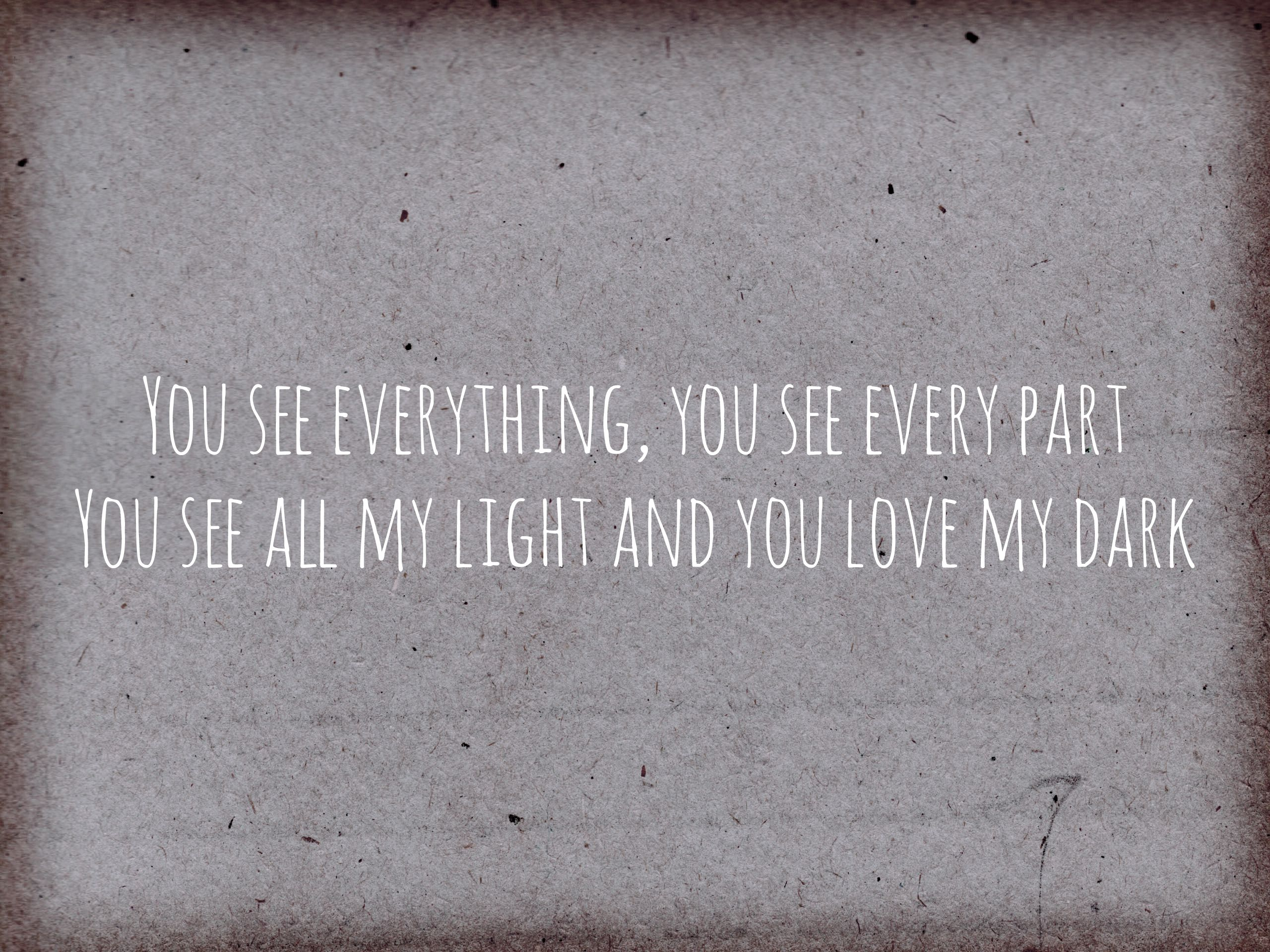You See Everything You See Every Part You See All My Light And