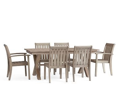 Indio X-Base Extending Dining Table + 2 Armchairs, 4 Side Chairs ...