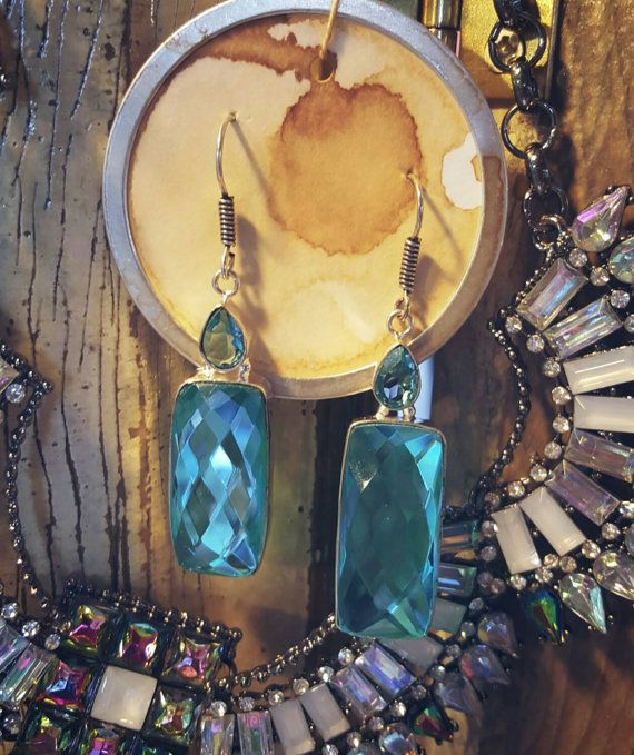 Boho Chic Bohemian Blue Topaz and Silver by RebelFoxBoutique