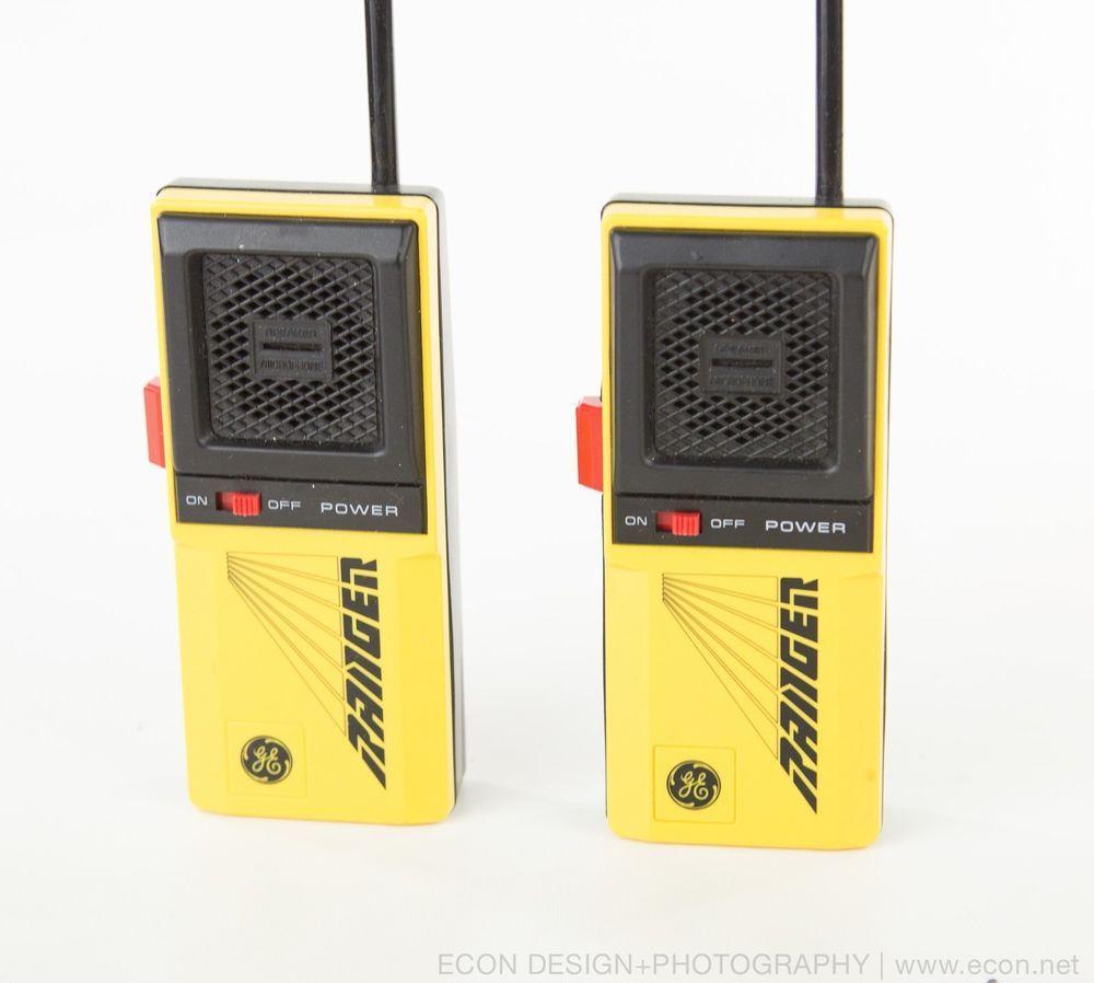 2 Vintage Ge Ranger Walkie Talkies 2-Way Radio Transceiver -6919