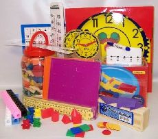 Manipulative Kit K-3 (Wooden Pattern Block Upgrade, Judy Clock, Optional Items)