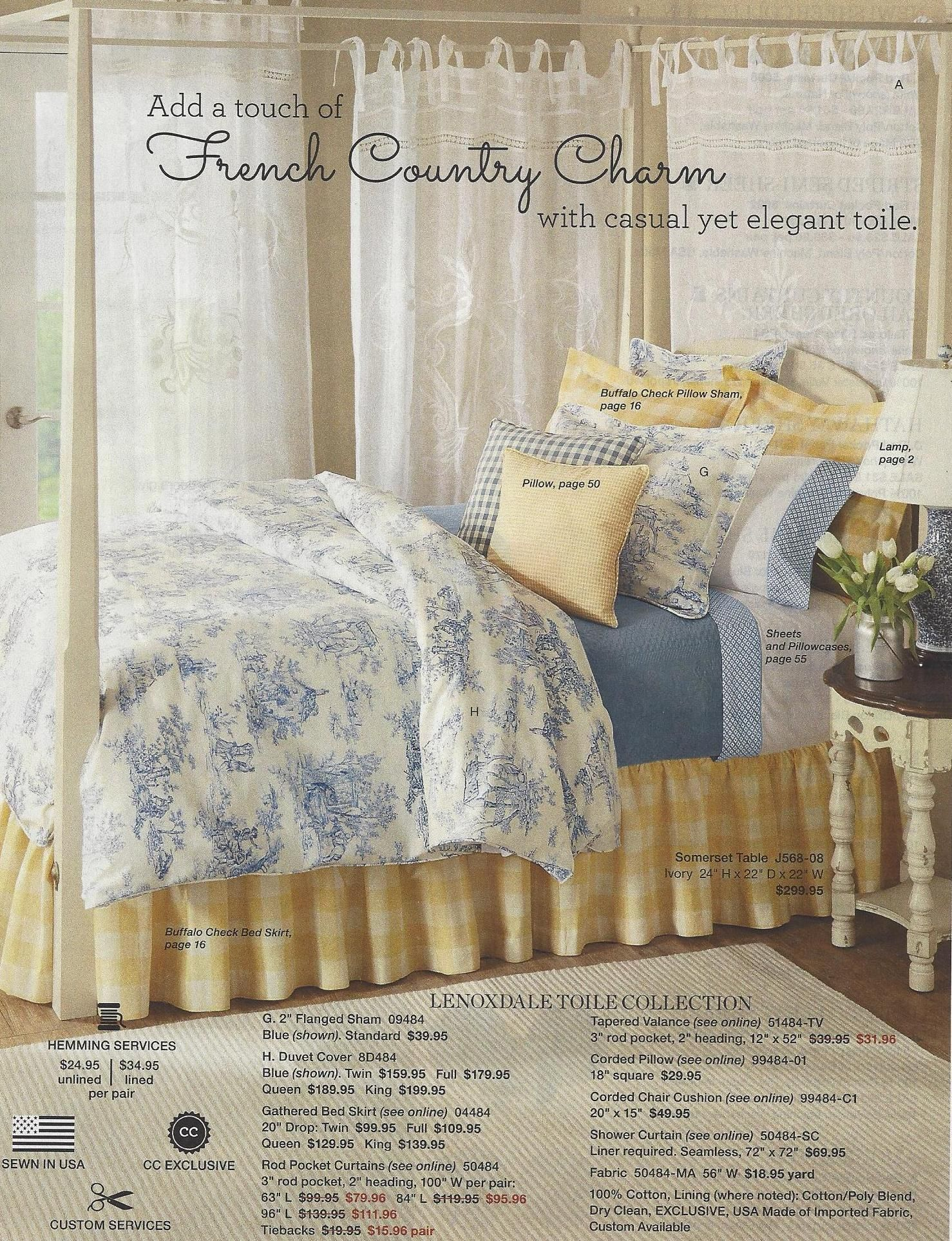 From The Country Curtains Catalog French Country Charm