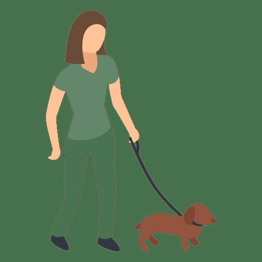 Woman Walking Dog Illustration Ad Sponsored Affiliate Walking Dog Illustration Woman Dog Illustration Dog Walking Dog Icon