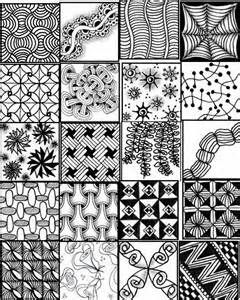 image about Zentangle Patterns Step by Step Printable referred to as Zentangle Designs Phase By means of Phase Printable Zentangle habit