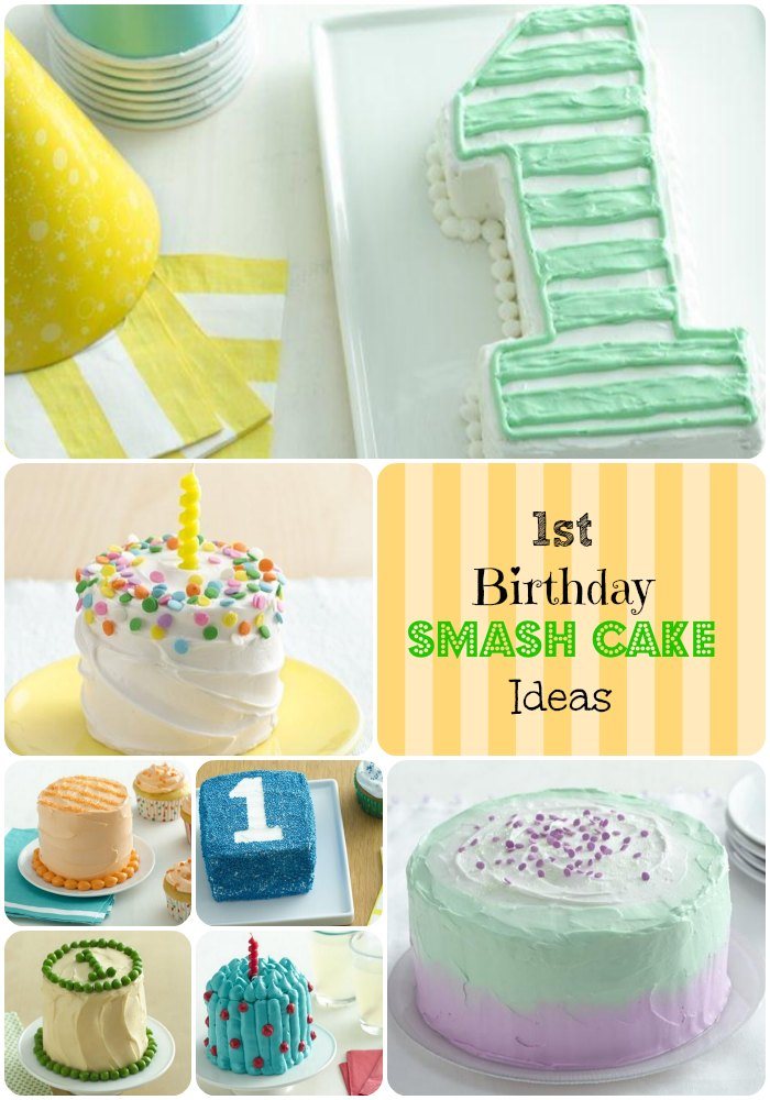 1st birthday cake designs Mint color Smash cakes and Color combos