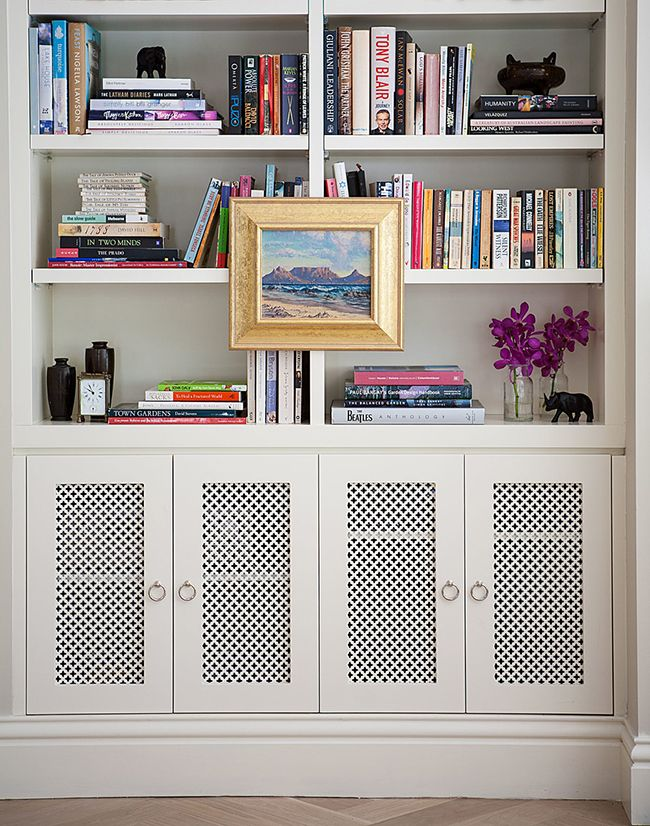 Pin By Anastasia Dudina On Cabinet Speaker Covers Radiator Cover Built In Bookcase Home