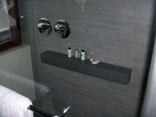 Bathroom Practical Shower Corner Shelves Walk Shower With