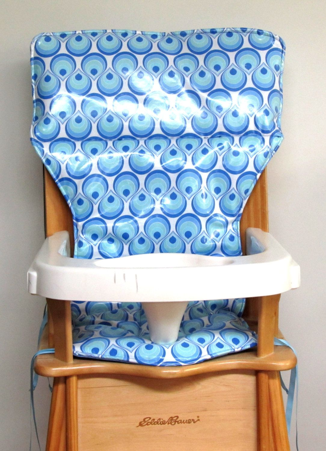 Baby Chair Cover Laminated Cotton Wooden High Chair Pad Baby
