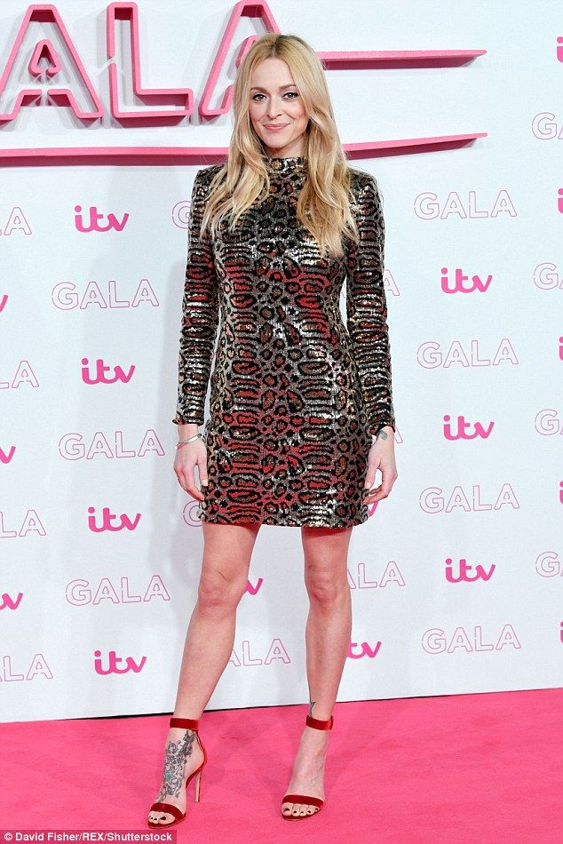 Fearne Cotton Flashes Her Lithe Legs In A Sequin Leopard Mini Dress