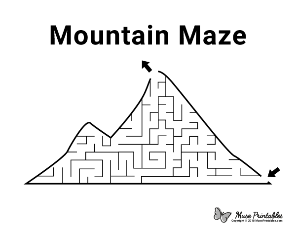 Free Printable Mountain Maze Download It At Https Museprintables Com Download Maze Mountain Activity Sheets For Kids Mazes For Kids Printable Mazes For Kids