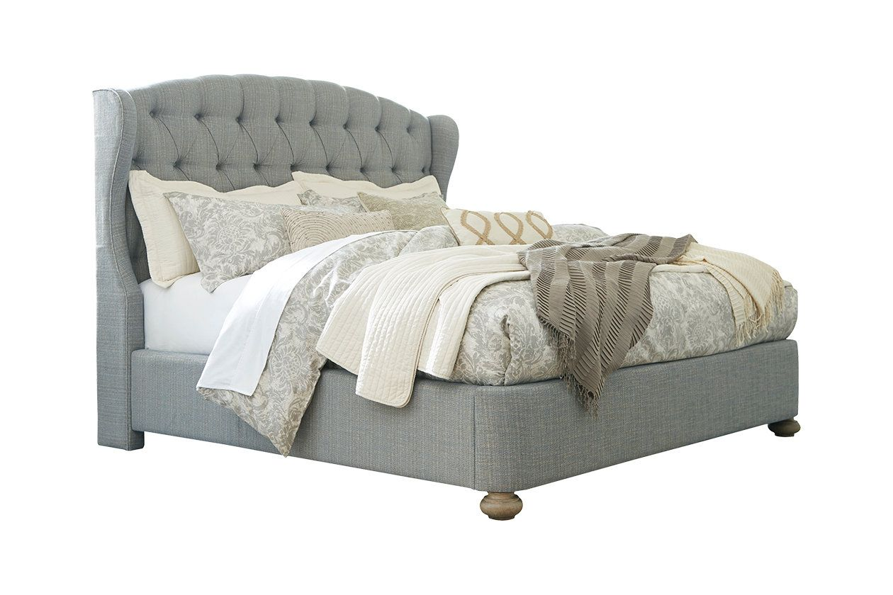 Ollesburg Queen Upholstered Bed Ashley Furniture Homestore Upholstered Beds King Upholstered Bed Furniture
