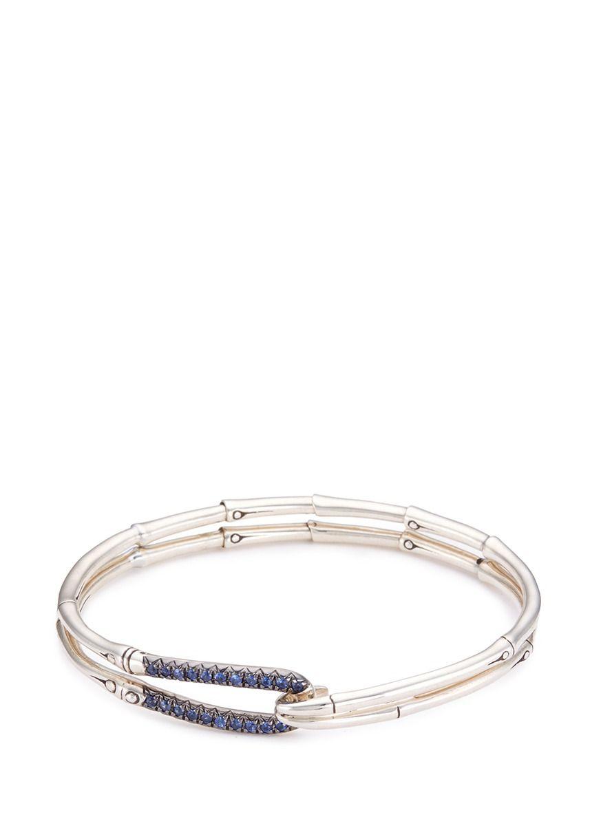 John hardy sapphire silver bamboo bangle accessories pinterest