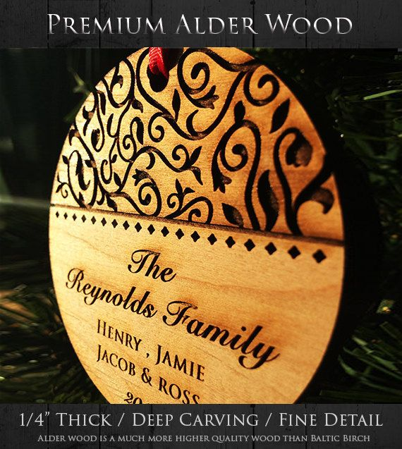 These beautiful Christmas ornaments also make a wonderful, unique gift. Great for grandparents, teachers, neighbors. You can choose what you want engraved (text) on it, just ask! :) wording can be changed.  ♥ Year- 2016 (unless otherwise noted) ♥  • • • • • • • • • • • • • • • • • • • • • • • • • • • • • • • • • • • • • LIMITED TIME [ P R O M O T I O N ]  Like or Heart this listing and receive a free gift box to go along with your Christmas ornament.  :SEE ALL OF OUR ORNAMENT COLLECTION…