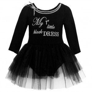 e06c400f0430 Bonnie Jean Baby Girls Black Letter Print Overlaid Christmas Dress ...