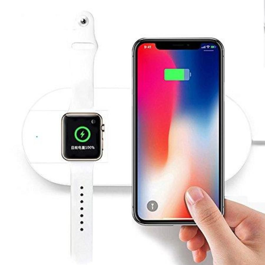 IPM iPM 2 in 1 Wireless Charging Pad with Fast Qi Charger Charger for Apple Watch at Lowes.com