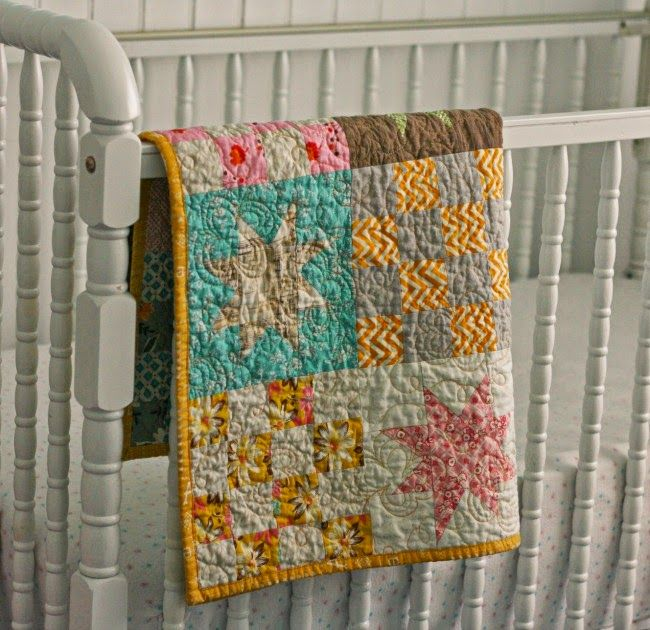 Stars and Squares ~ this is a pretty sweet lookin baby quilt