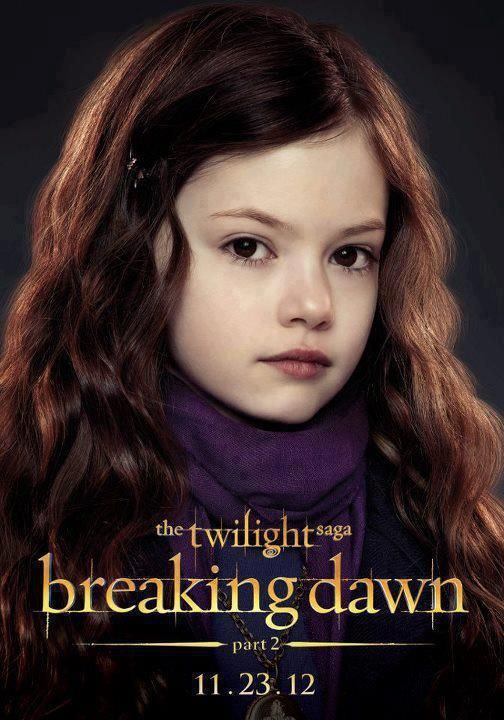 Character Poster Of Renesmee For The Twilight Saga Breaking Dawn