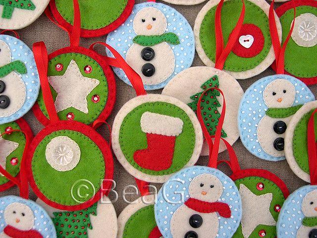 Felt christmas ornaments Felt! Pinterest Christmas ornament