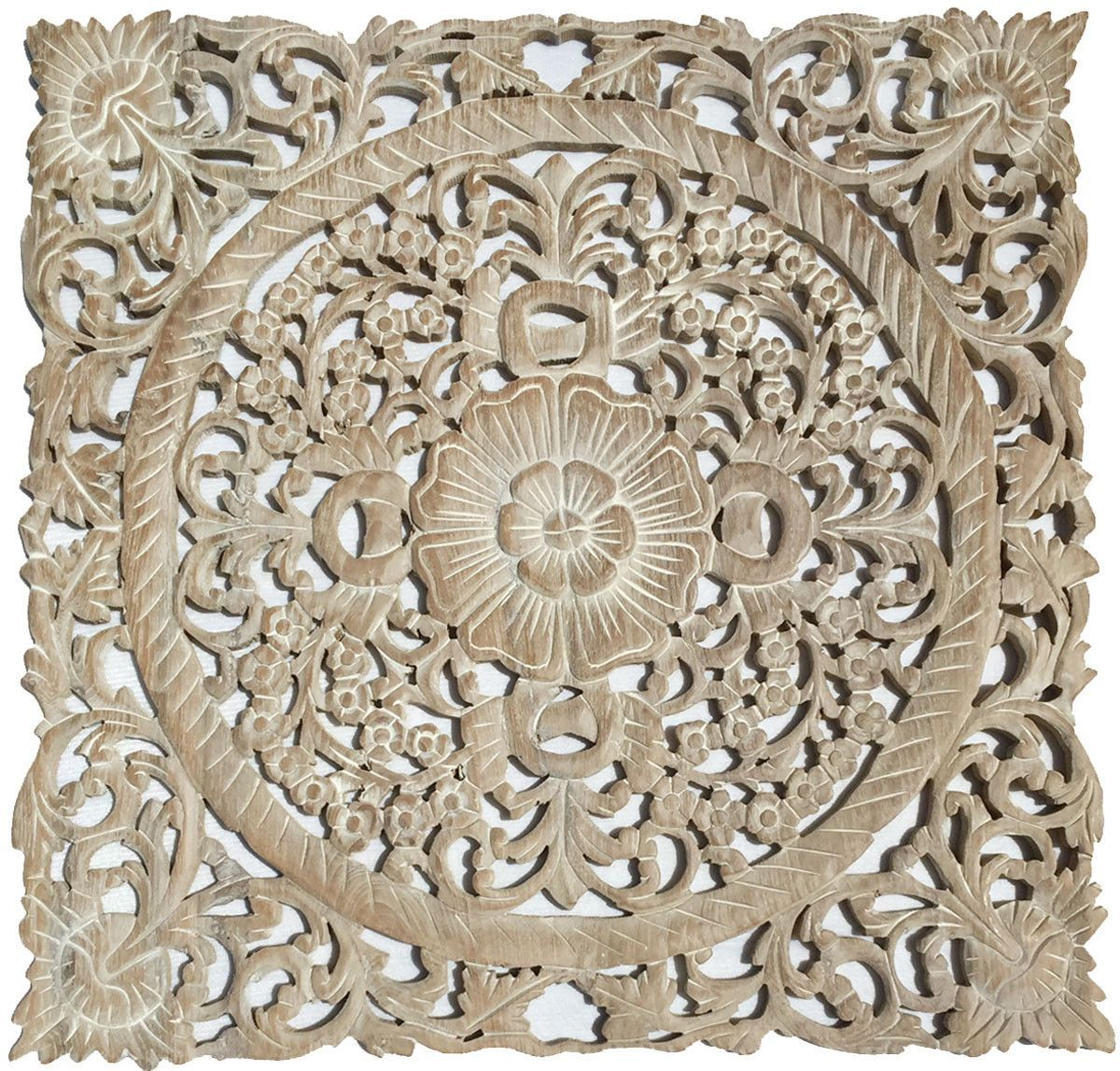 Wood Carved Wall Decor Clearance Oriental Hand Carved Wood Wall Plaques Foral Wood Wall