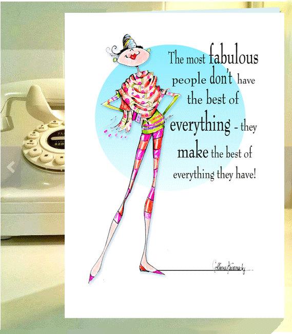 Woman Birthday Card Funny Friend Women Humor Fashionista Cards