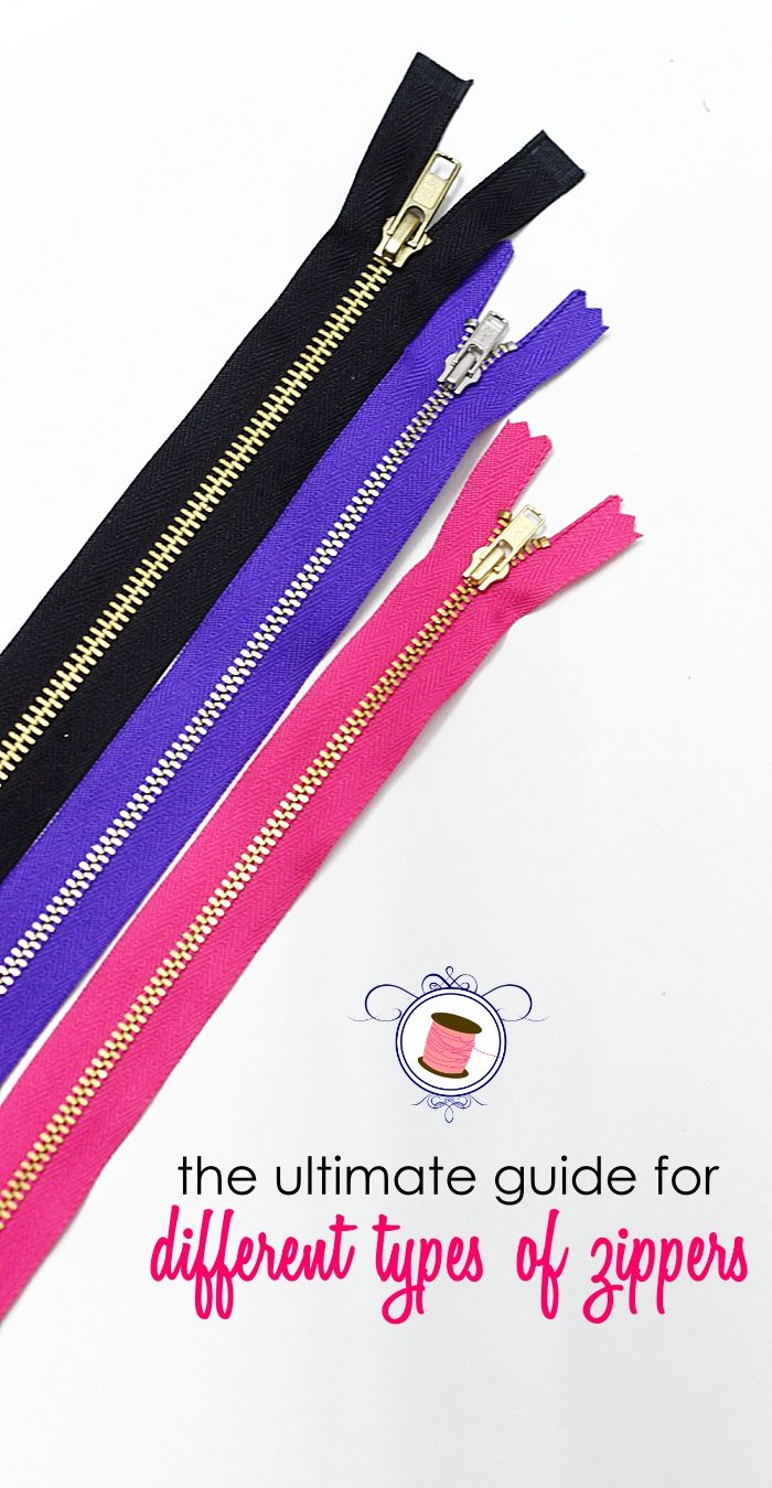 The Ultimate Guide to Different Types of Zippers - Sew Some Stuff