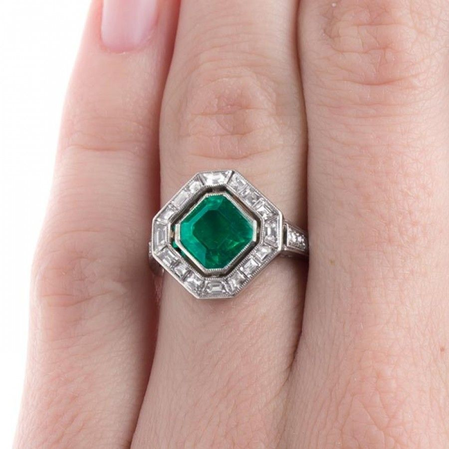 Stunning Art Deco Cartier Emerald Ring | Penngrove | Rings ...