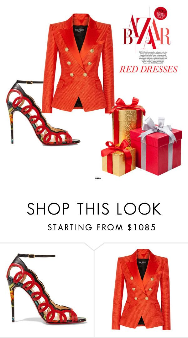 """""""sofy"""" by moustafaissasofy ❤ liked on Polyvore featuring Christian Louboutin and Balmain"""