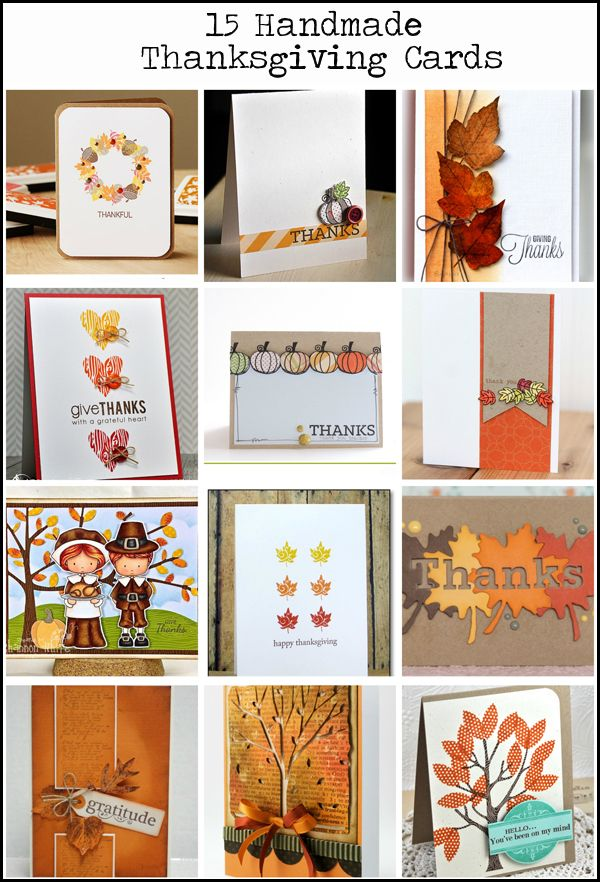 15 awesome handmade thanksgiving card ideas vintage page for Handmade thanksgiving decorations