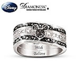 "The """"Mickey Hidden Message"""" Engraved Women's Three Band Ring"" #Glimpse_by_TheFind"