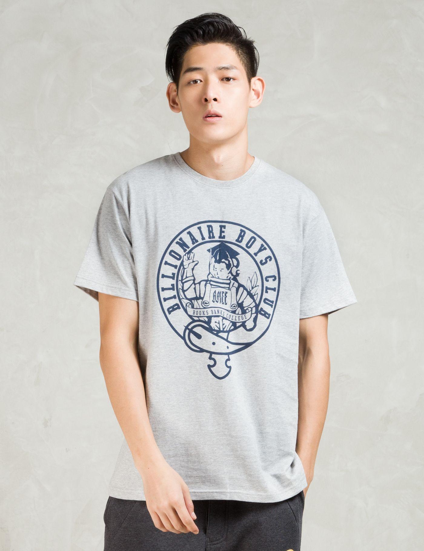 Billionaire Boys Club Grey Sscn Astro College T-Shirt | HBX.