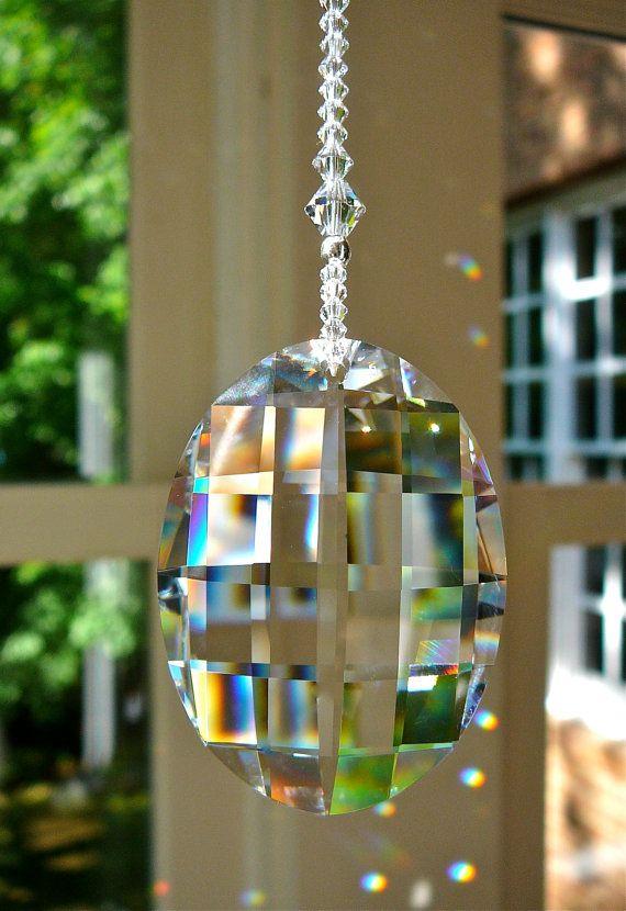 Retired Swarovski Crystal Window Decor Or Fan Pull