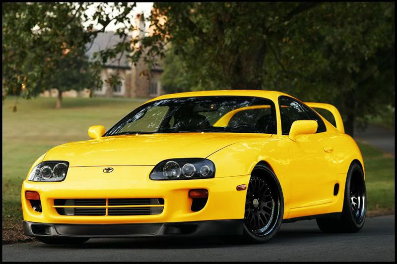 toyota-supra-yellow-black | Japanese tuners | Pinterest ...