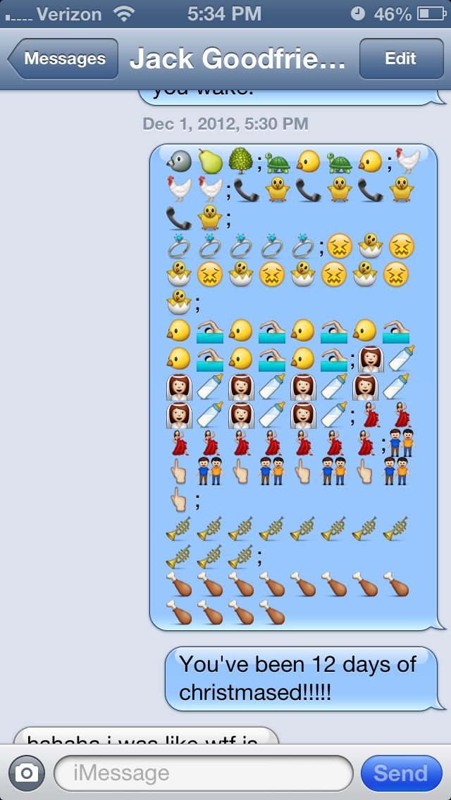 12 days of christmas emoji style