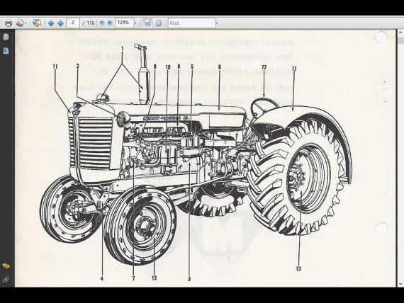 massey ferguson mf135 parts manual - 160pg with mf 135 tractor part lists  and exploded diagrams   tractor parts, massey ferguson, hydraulic systems  pinterest